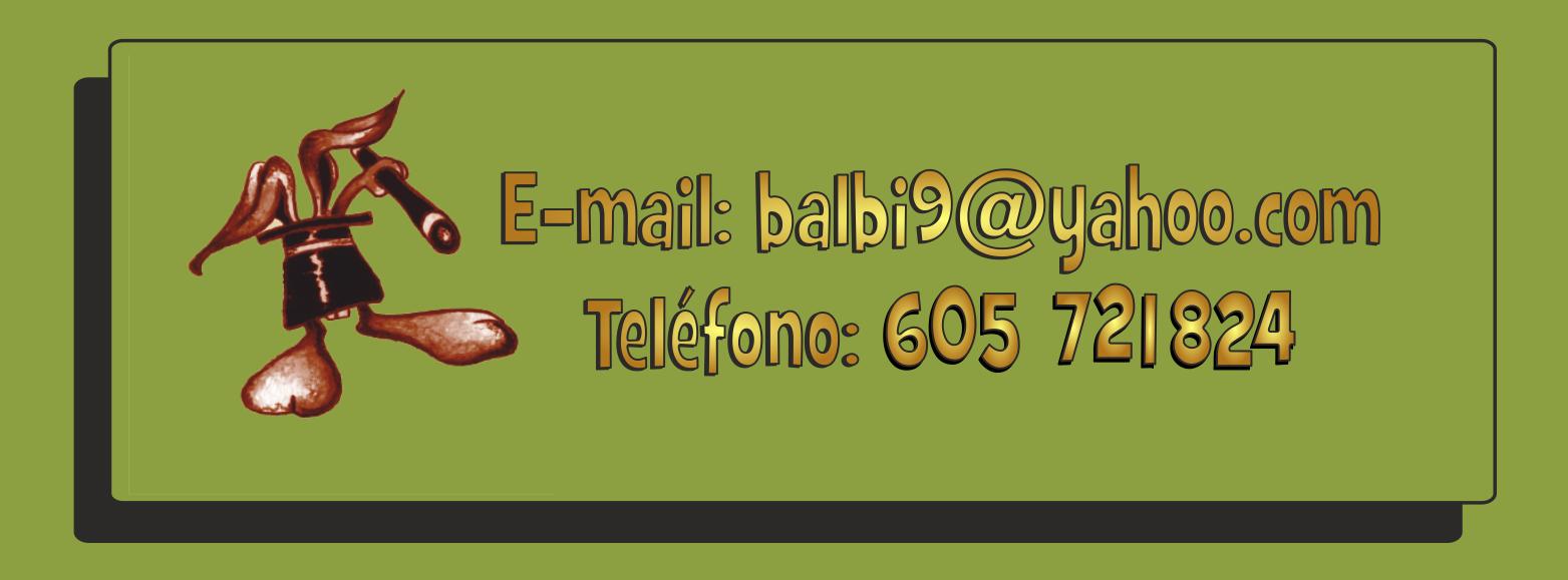 Telefono: 605 721 824 - balbi9@yahoo.com
